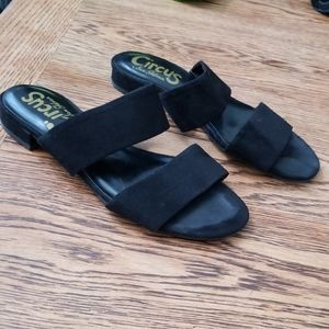 Circus by Sam Edelman double strap suede slides